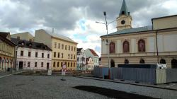 Mnichovo Hradiště, revitalizace náměstí, 27. 3. 2021. Foto: Petr Novák
