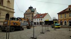 Mnichovo Hradiště, revitalizace náměstí, 5. 4. 2021. Foto: Petr Novák