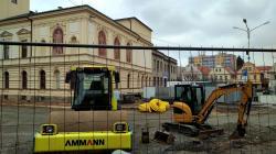 Mnichovo Hradiště, revitalizace náměstí, 17. 4. 2021. Foto: Petr Novák