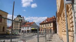 Mnichovo Hradiště, revitalizace náměstí, 6. 6. 2021. Foto: Petr Novák