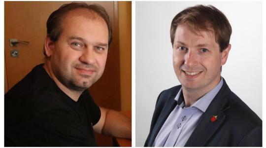 Jan Hofmann a Ondřej Lochman budou následující čtyři roky reprezentovat Mnichovohradišťsko v Poslanecké sněmovně. Foto: facebook Jana Hofmanna/město Mnichovo Hradiště