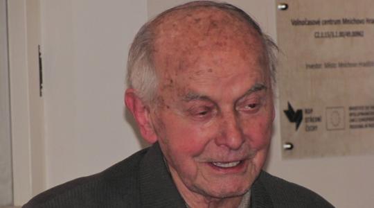 Učitel a básník Josef Brož ze Lhotic v roce 2014, foto: Petr Novák