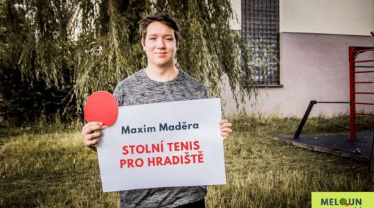 Maxim Maděra: Stolní tenis pro Hradiště. Foto: Lucie Velichová
