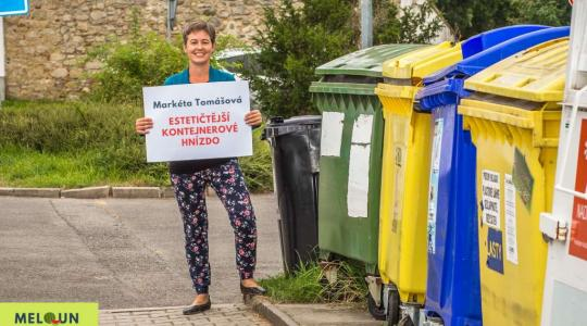 Markéta Tomášová: Estetičtější kontejnerové hnízdo. Foto: Lucie Velichová