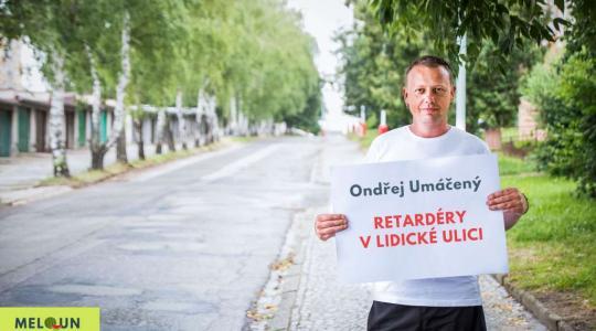 Ondřej Umáčený: Retardéry v Lidické ulici. Foto: Lucie Velichová