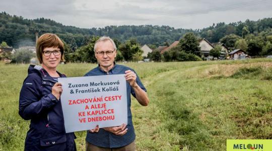 Zuzana Morkusová & František Koliáš: Zachování cesty a alej ke kapličce ve Dnebohu. Foto: Lucie Velichová