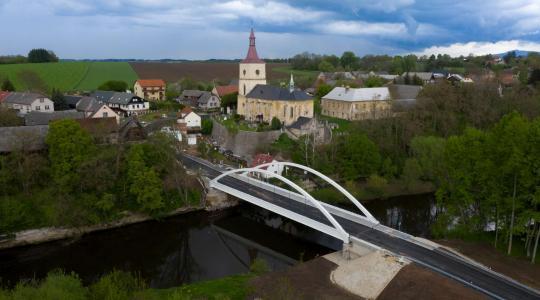 Nový most v Loukově. Foto: Krajská správa a údržba silnic Středočeského kraje