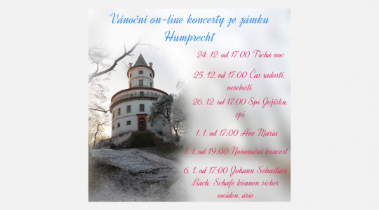 Vánoční on-line koncerty ze zámku Humprecht
