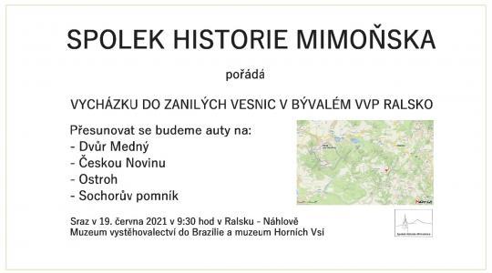Spolek historie Mimoňska pořádá vycházku do zaniklých vesnic v bývalém vojenském výcvikovém prostoru Ralsko.